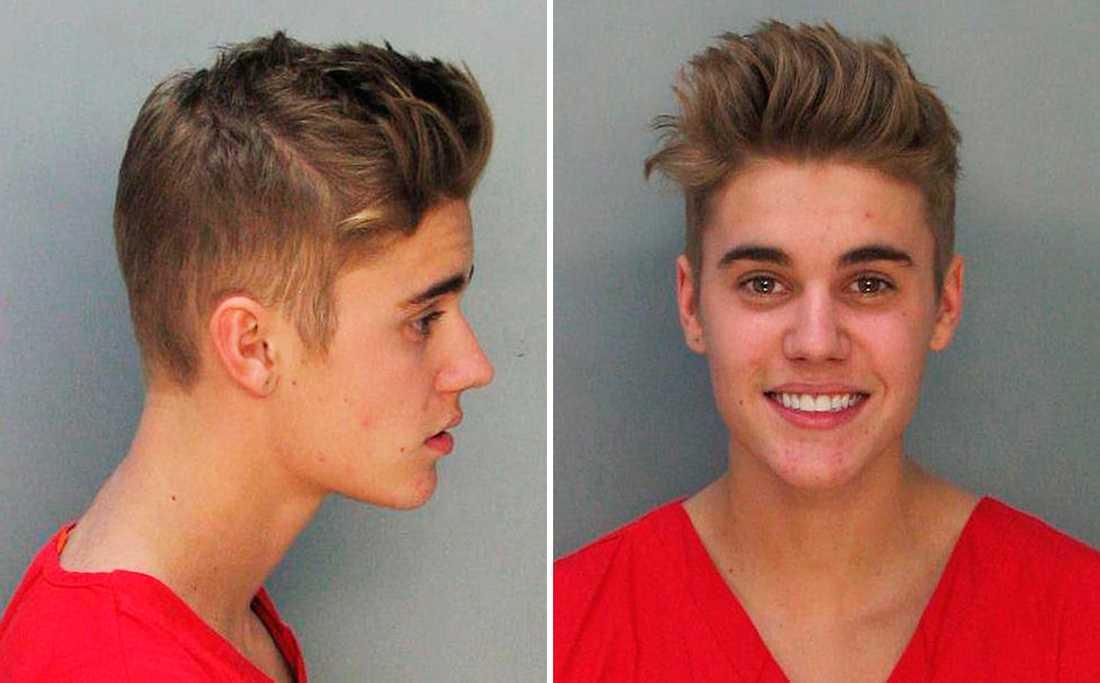Miami-polisens bild av Justin Bieber efter att han ska ha kört rattfull och drogpåverkad.