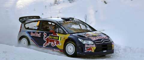 Kimi Räikköne fastnade i en snödriva på SS6 och förlorade mycket tid.