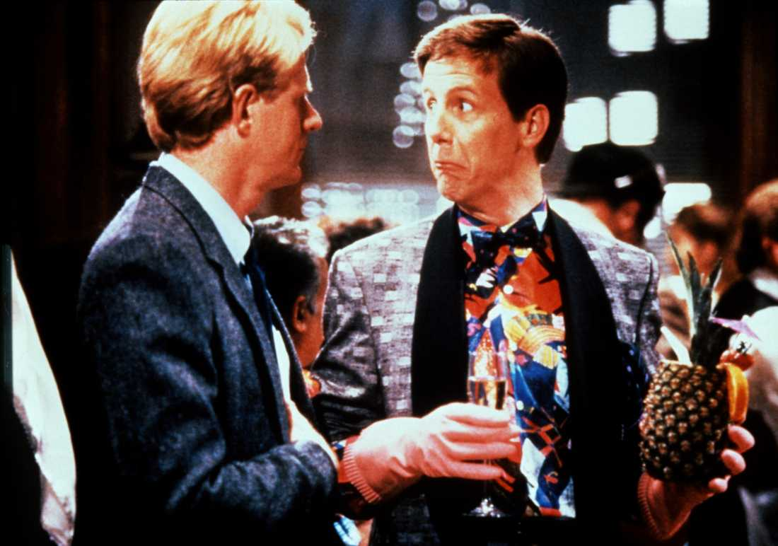 "Harry Anderson och Ed Begley i ""Spies, lies and naked thighs"", 1988."
