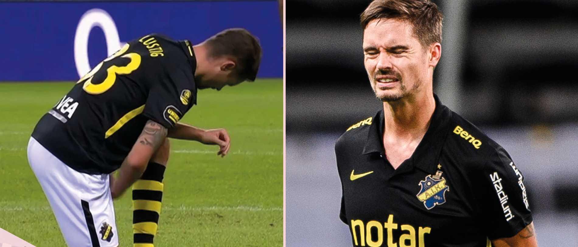 AIK:s bakslag – Lustig skadad