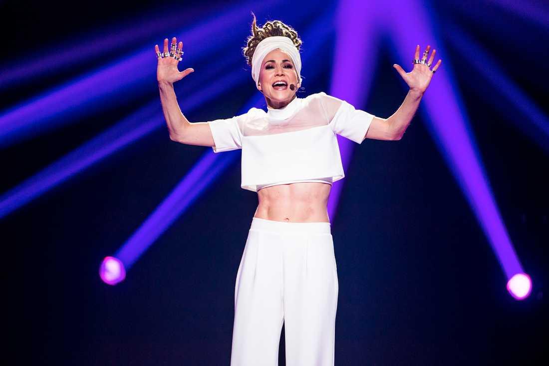 Mariette Hansson i Melodifestivalens final