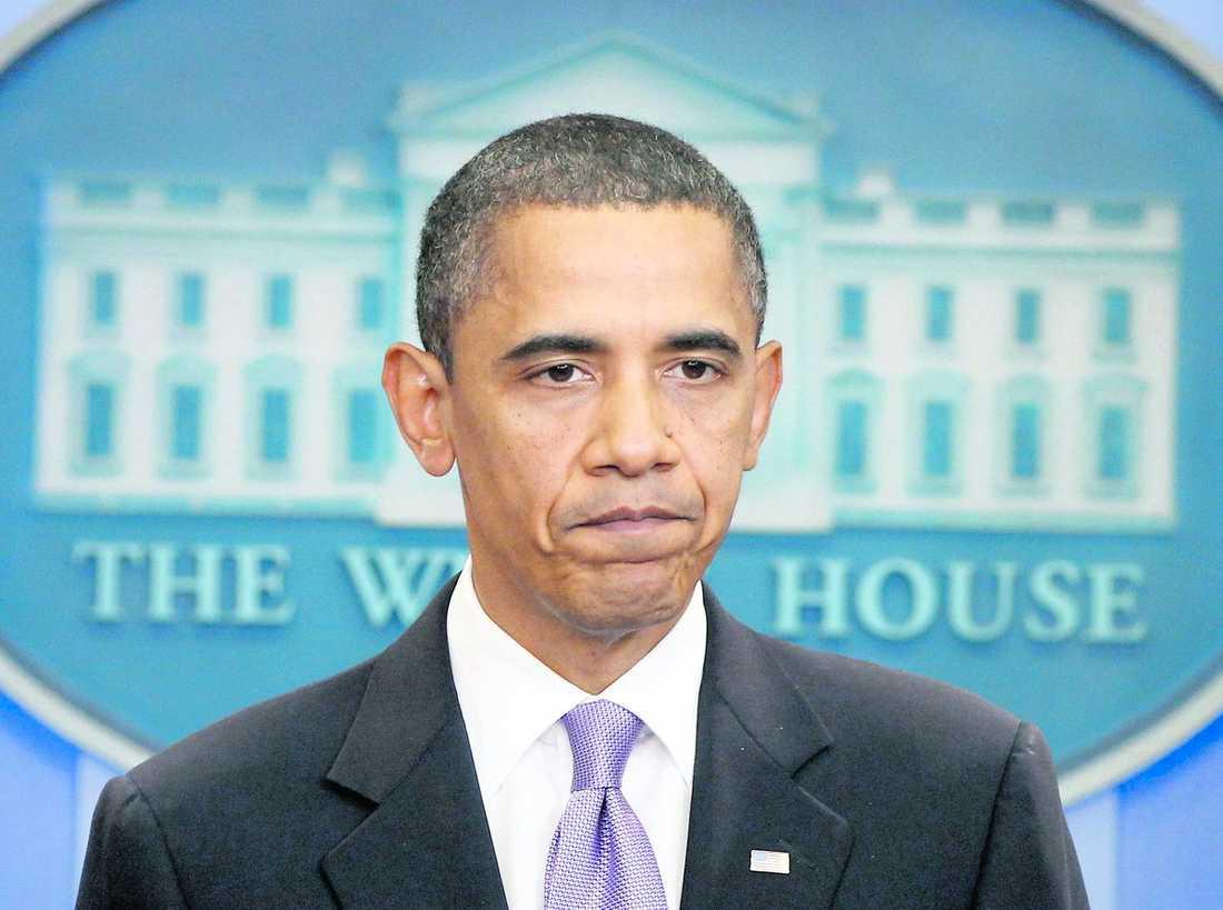 """bekräftar allvaret """"Undersökningar visar att paketen innehöll sprängmedel"""", sa USA:s president Barack Obama på presskonferensen i Vita huset."""