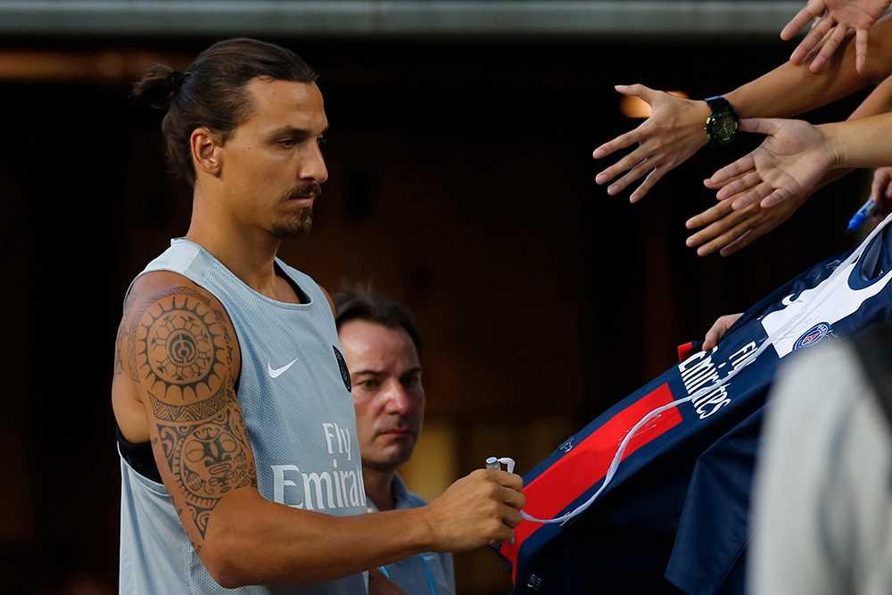 Zlatan Ibrahimovic är just nu i Peking med PSG på försäsongsturné.