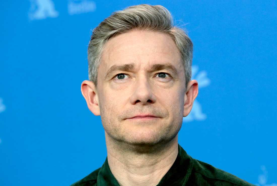 Martin Freeman är en av stjärnorna som gör intervjuer över videolänk.