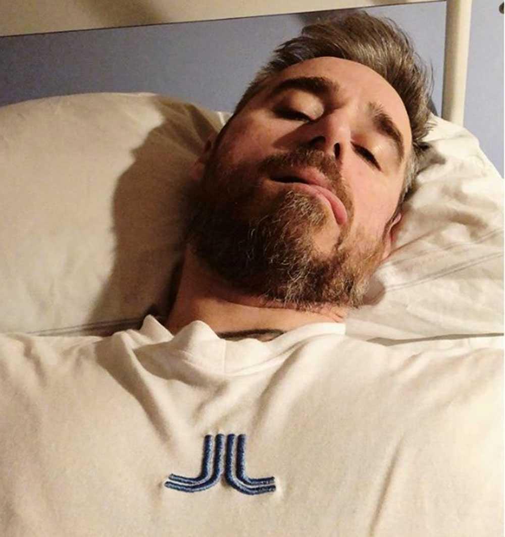 Sébastien Boudet i sjuksängen.