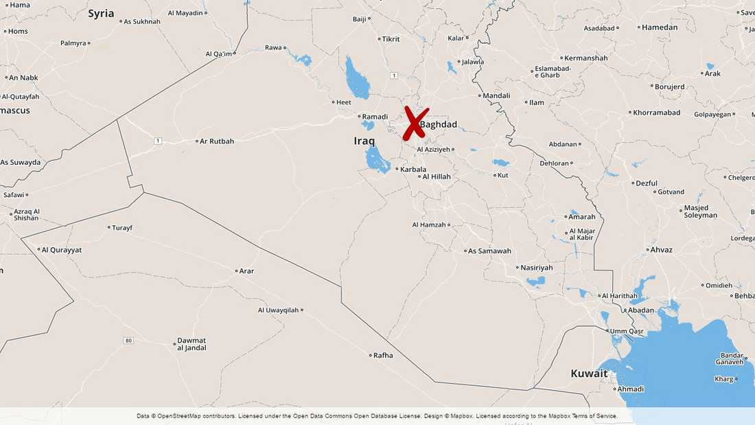 Raketattacken skedde i Bagdad.