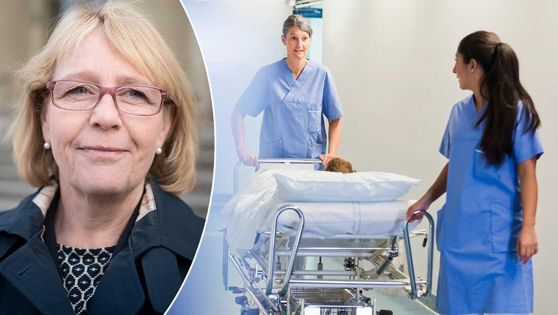 Grunden till de långa vårdköerna handlar bland annat om brist på sjuksköterskor och att regeringen tog bort kömiljarden 2014, skriver debattören Irene Svenonius (M).