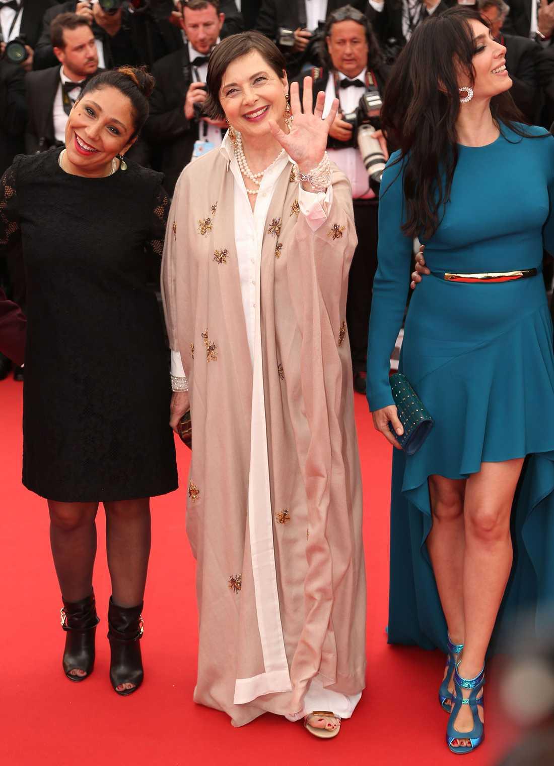 Isabella Rossellini på röda mattan i Cannes.