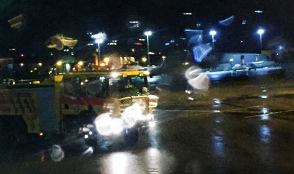 Brandbil på Bromma flygplats.