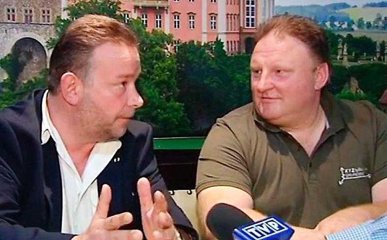 Piotr Koper och Andreas Richter kräver en hittelön på tio procent av fyndet i nazitåget.