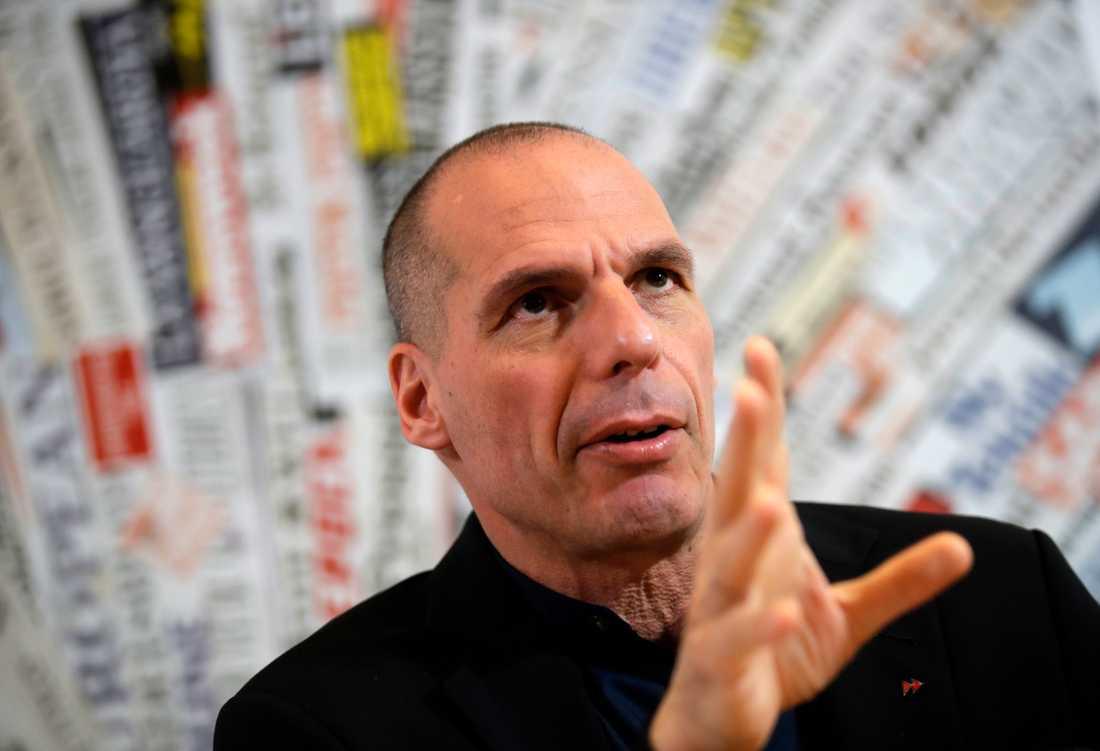 Greklands förre finansminister Yanis Varoufakis hoppas bli invald i EU-parlamentet – via Tyskland. Arkivfoto.