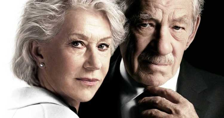 "Helen Mirren och Ian McKellen i ""The good liar""."