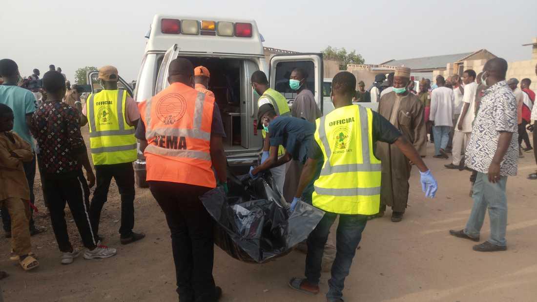 Självmordsattack i Maiduguri, Nigeria Friday, April 27, 2018.