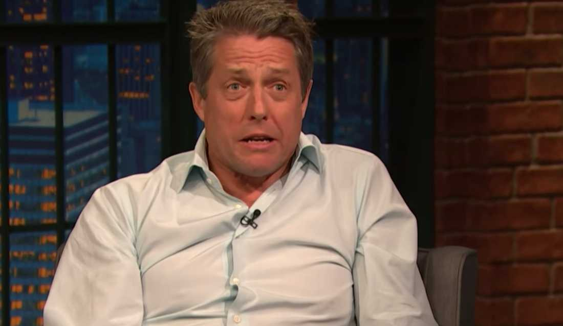 "Hugh Grant i ""Late night with Seth Meyers"""
