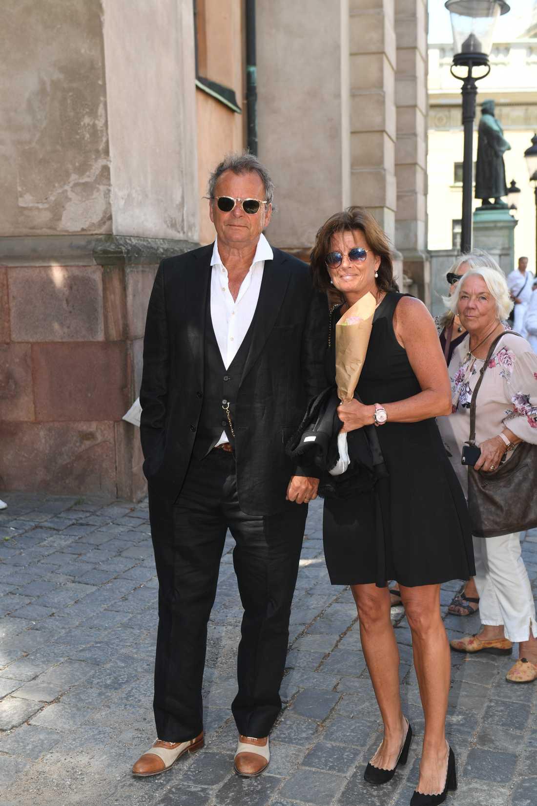 Steffo Törnquist med frun Caroline.