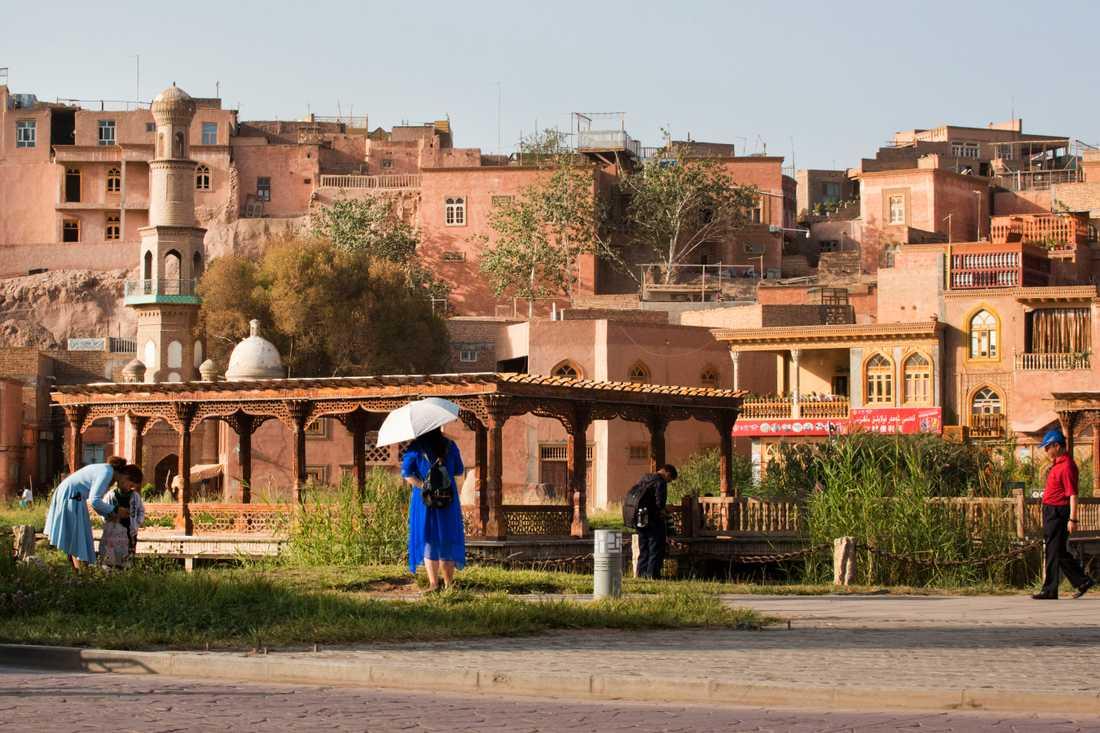 De gamla delarna av staden Kashgar i nordvästra Kina. Arkivbild.