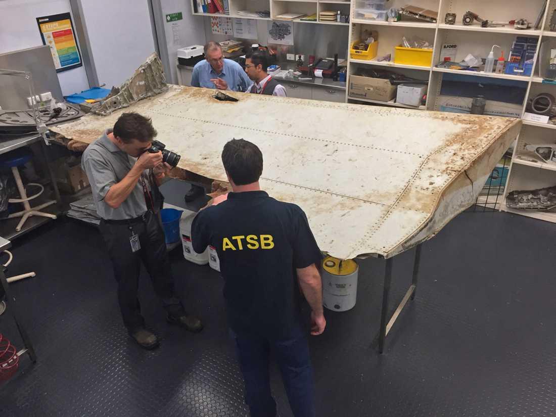 Australiska transportsäkerhets-byrån, ATSB, undersöker en del som misstänktes komma från MH370.