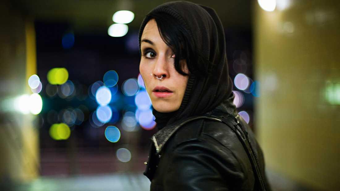 """Noomi Rapace som Lisbeth Salander i """"Millennium""""-filmerna."""