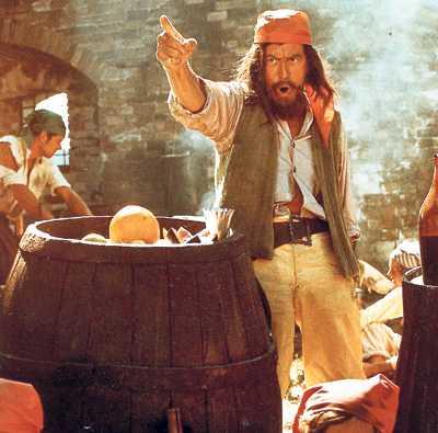 Med kniven i handen spelade Ljung sjörövare i Pippi Långstrump-filmerna.