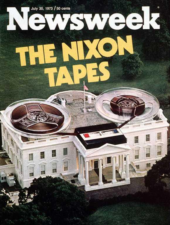 30 juli, 1973 Nixon-inspelningarna fångades på band i det Ovala rummet i Vita Huset och blev en viktig ingrediens i Watergate-skandalen som fällde president Richard Nixon 1974, när journalister begärde ut dem som offentlig handling.