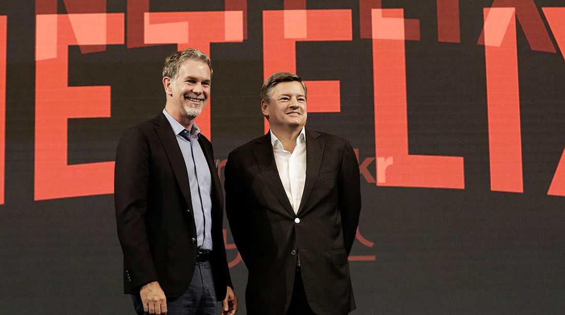 Grundaren Reed Hastings och innehållschefen Ted Sarandos.