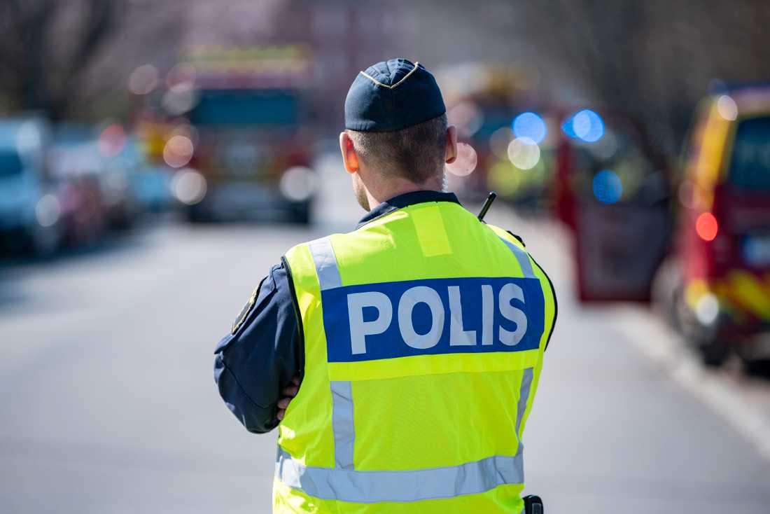Intresset för att bli polis har ökat, men det har ändå varit svårt att fylla alla utbildningsplatser. Arkivbild.
