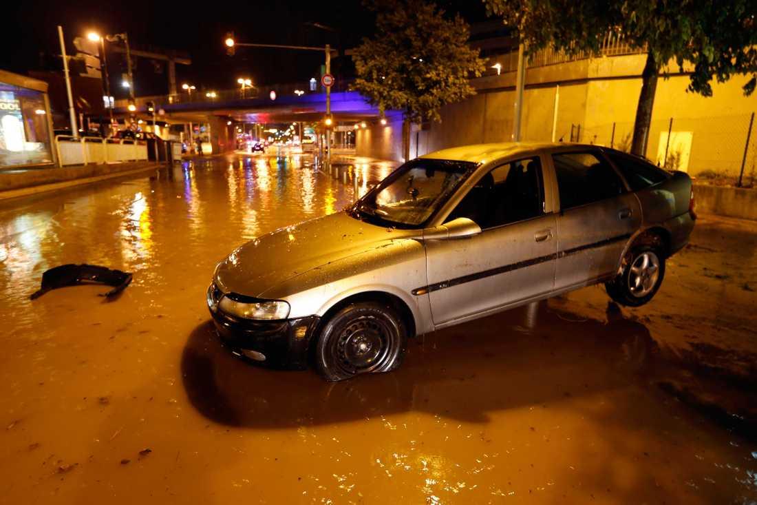 Översvämningar i Nice.