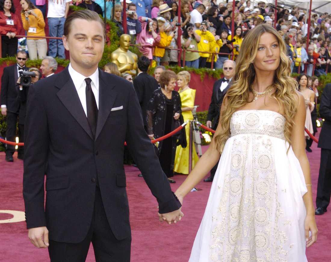 Leonardo DiCaprio var i mitten av 2000-talet ihop med modellen Gisele Bündchen som, liksom många av filmstjärnans flickvänner, slog igenom i tidningen Sports Illustrated Swimsuit Issue.