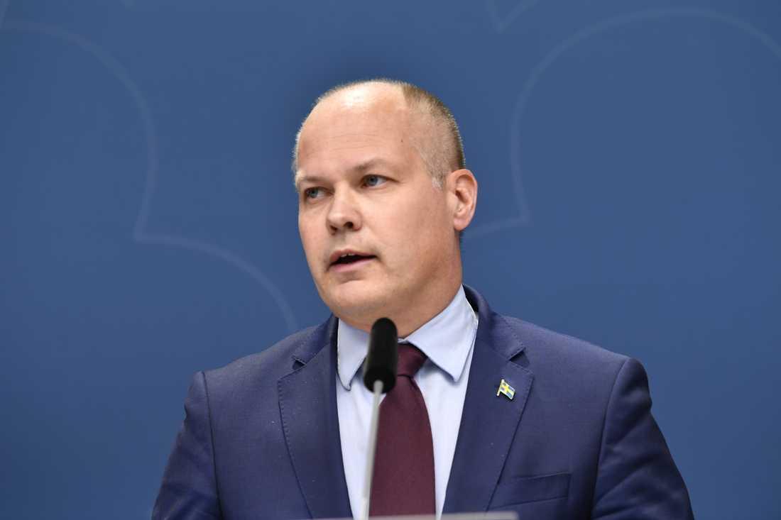 Justitie- och migrationsminister Morgan Johansson (S). Arkivbild.