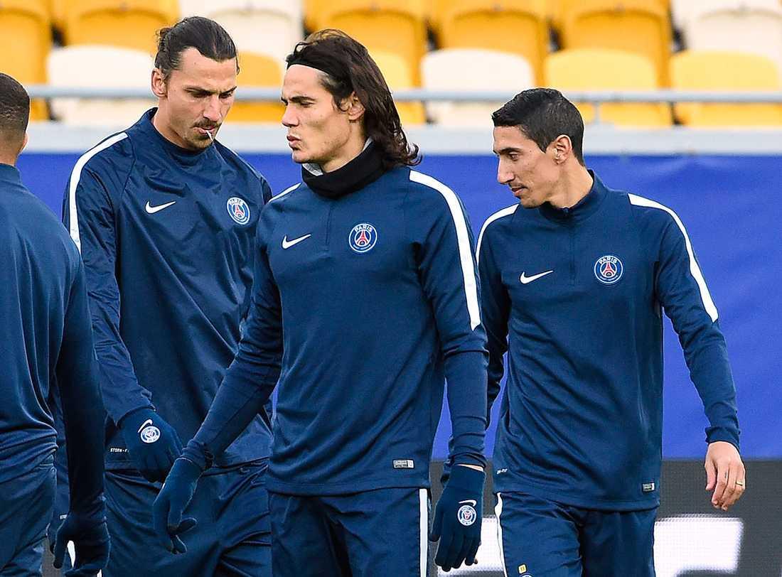 Cavani har inte fått spela på sin önskade position.