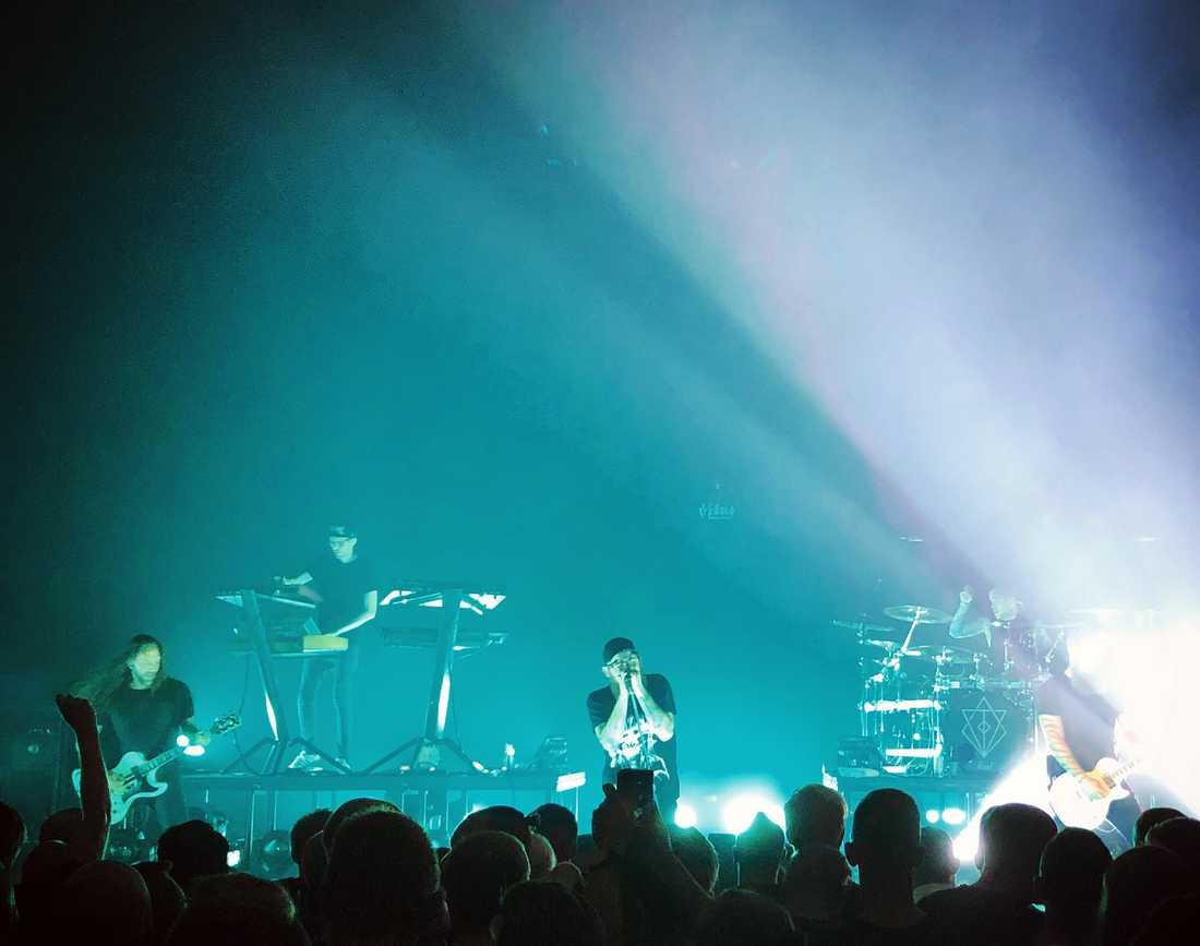 In Flames i Kalmarsalen den 25 juli under genrepet till den egna festivalen Borgholm Brinner som anordnades helgen efter.