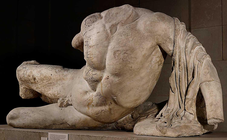 Flodguden Ilissos - en Lord Elgin av stayerna från Pantheon som i dag finns på British museum. Foto: AP
