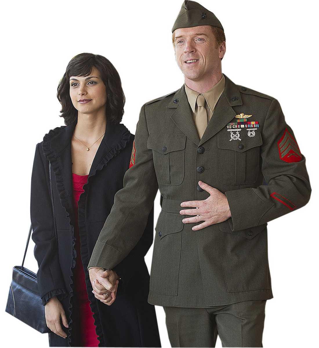 "Morena Baccarin och Damian Lewis i ""Homeland""."