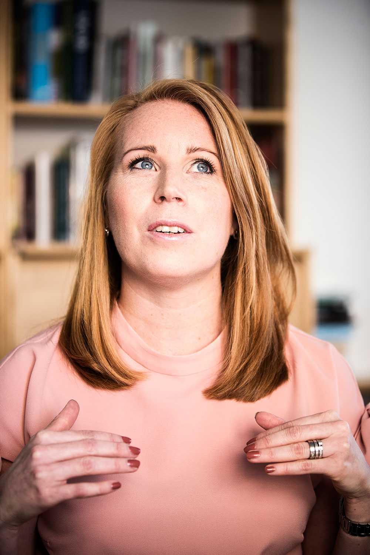 Annie Lööf är tacksam för stödet hon fått från sitt parti när det varit som jobbigast.