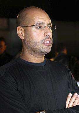 Moammar Gaddafis son Saif al-Islam har blivit tillfångatagen i Tripoli.