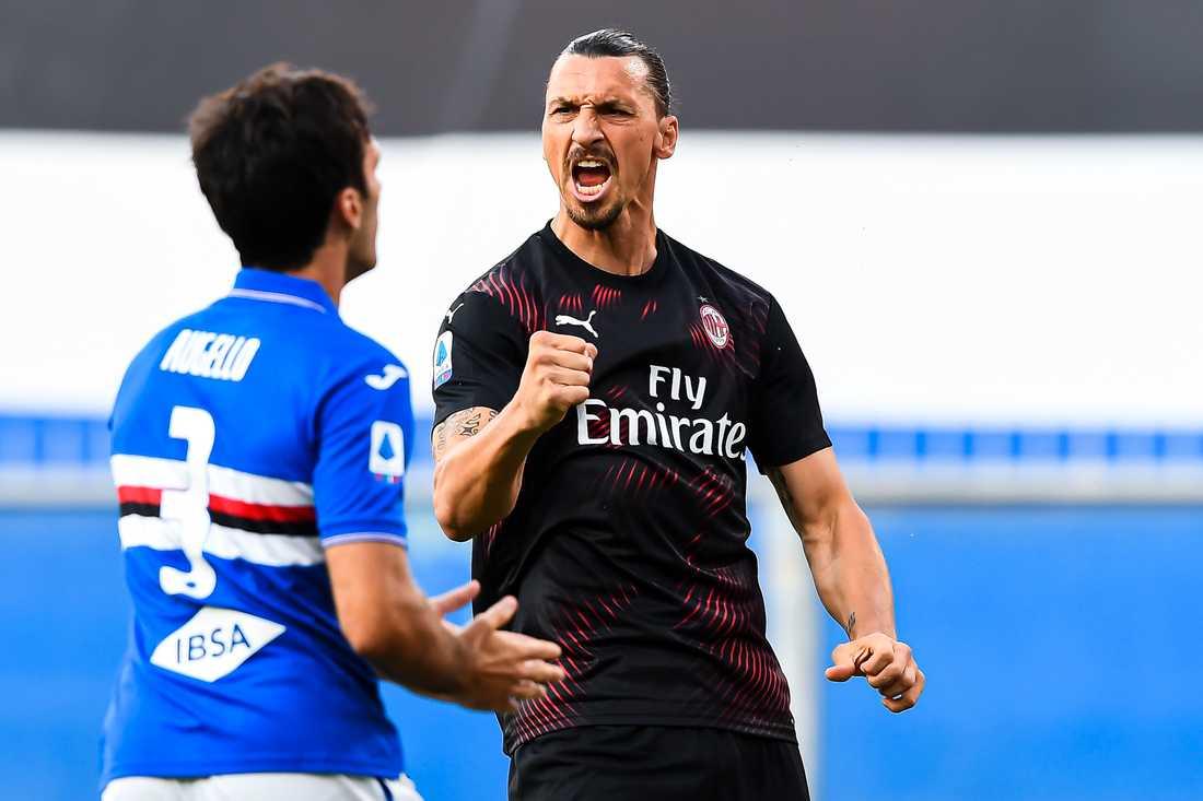 Zlatan har nu gjort 50 mål både för Milan och Inter.