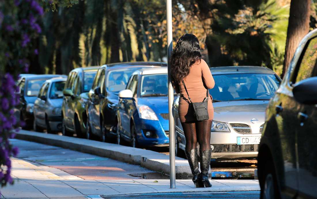 En prostituerad kvinna i Frankrike/arkivbild.