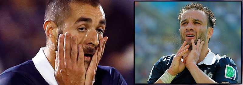Benzema och Valbuena.