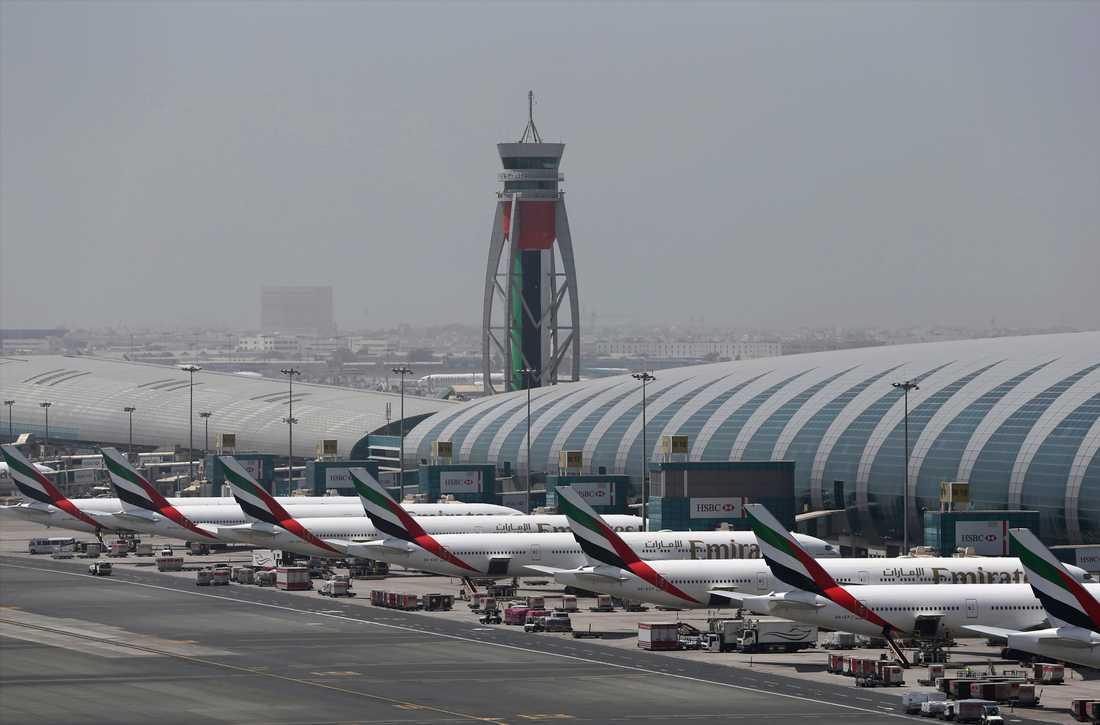 Den internationella flygplatsen i Dubai. Arkivbild.