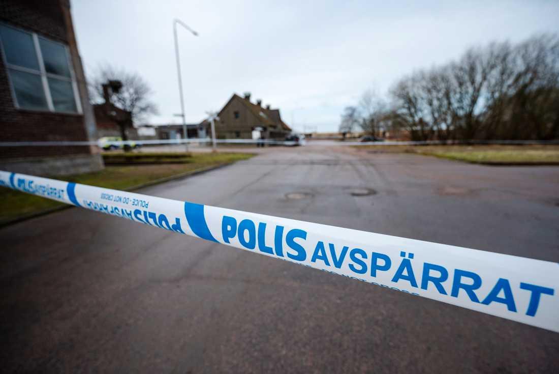Polisen har spärrat av ett område i centrala Norrköping. Arkivbild.