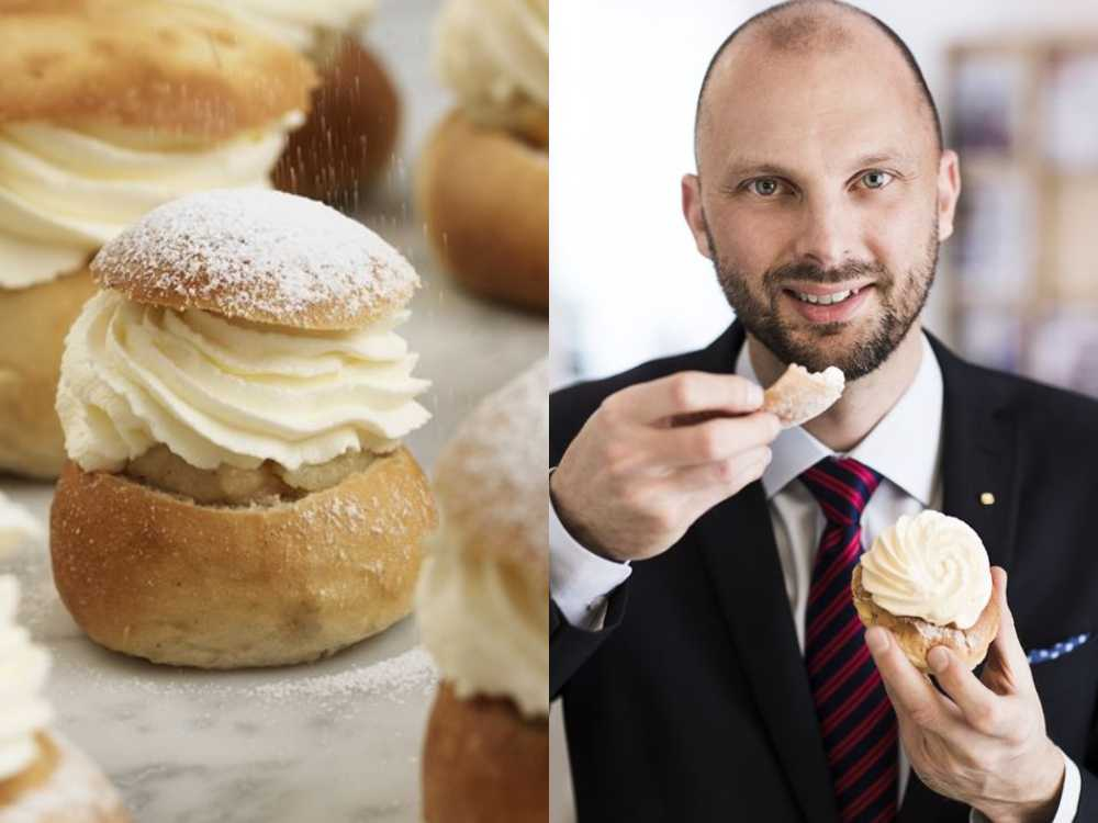 – Planen är att äta tre semlor, Martin Lundell, vd på Branschorganisation för bagerier och konditorier.