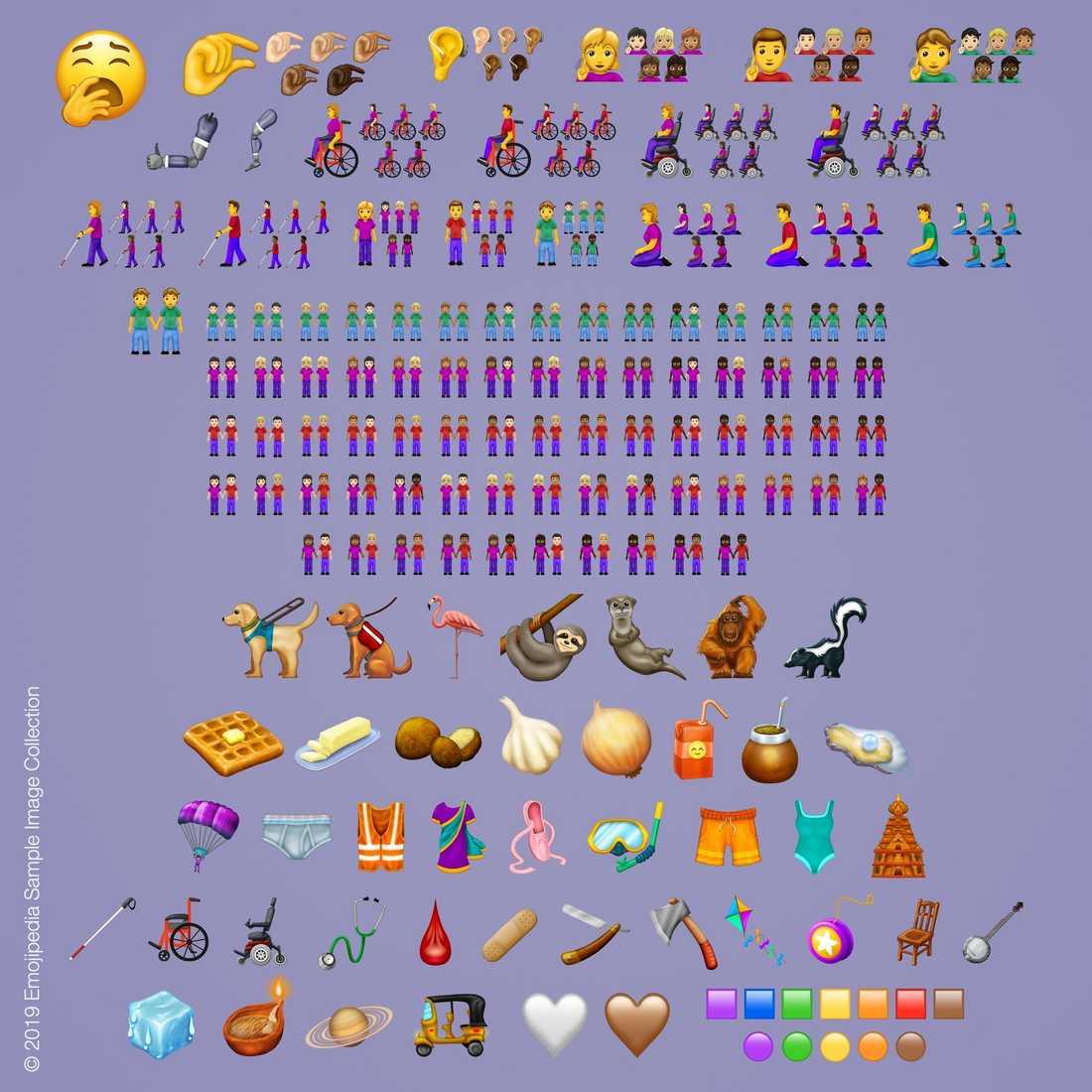 59 nya emojis kommer under 2019 med totalt 230 versioner.