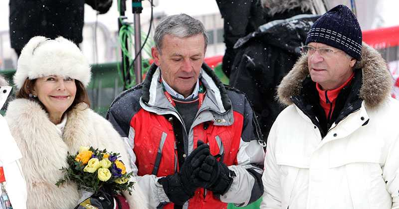 Drottning Siliva, Egon Zimmerman och och kung Carl XVI Gustaf.