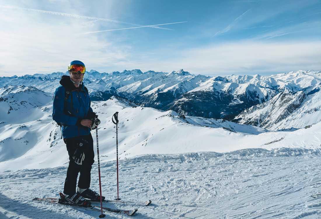 Hanna och Erik stannade i Alperna i en vecka för skidåkning.