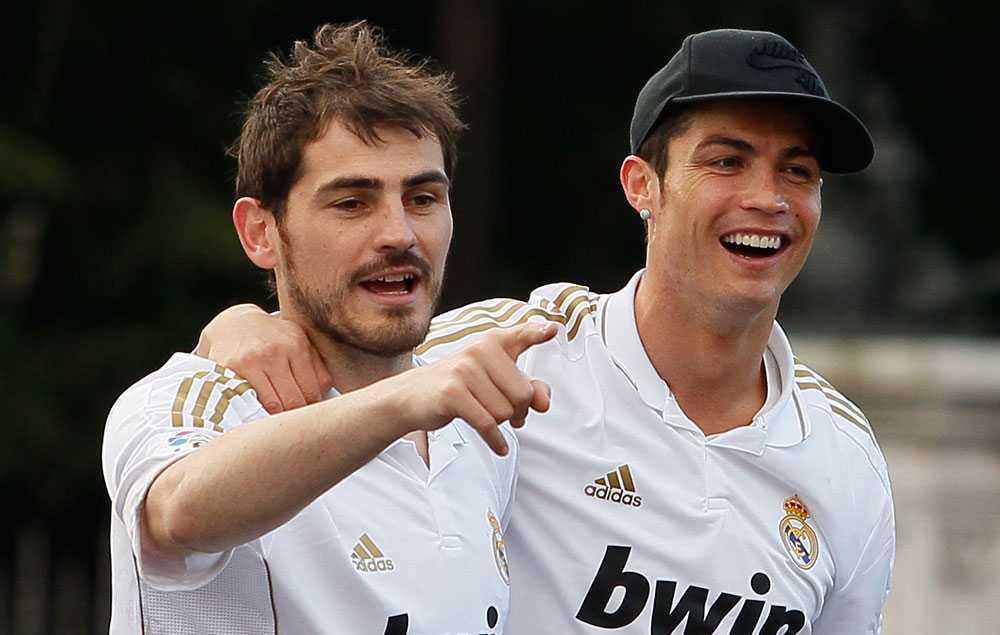 Iker Casillas och Cristiano Ronaldo.