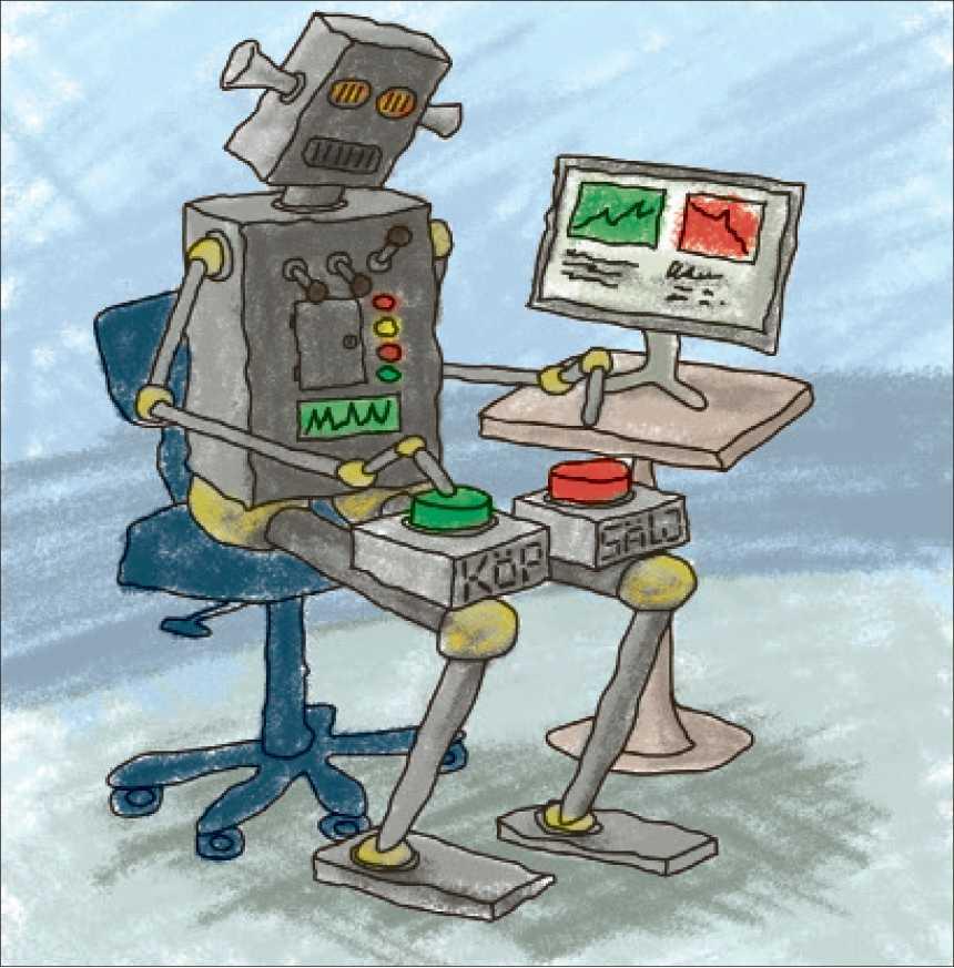 HASTIGHET ÄR ALLT Robothandel är ett fenomen som bygger på att ett ansiktslöst universum som köper och säljer på miljondelar av en sekund.