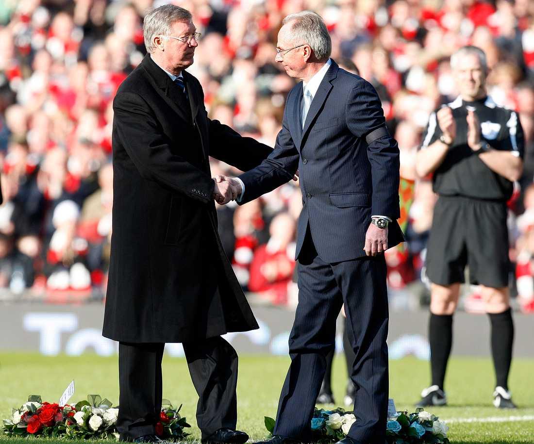 """Sir Alex Ferguson och """"Svennis"""" 2008."""