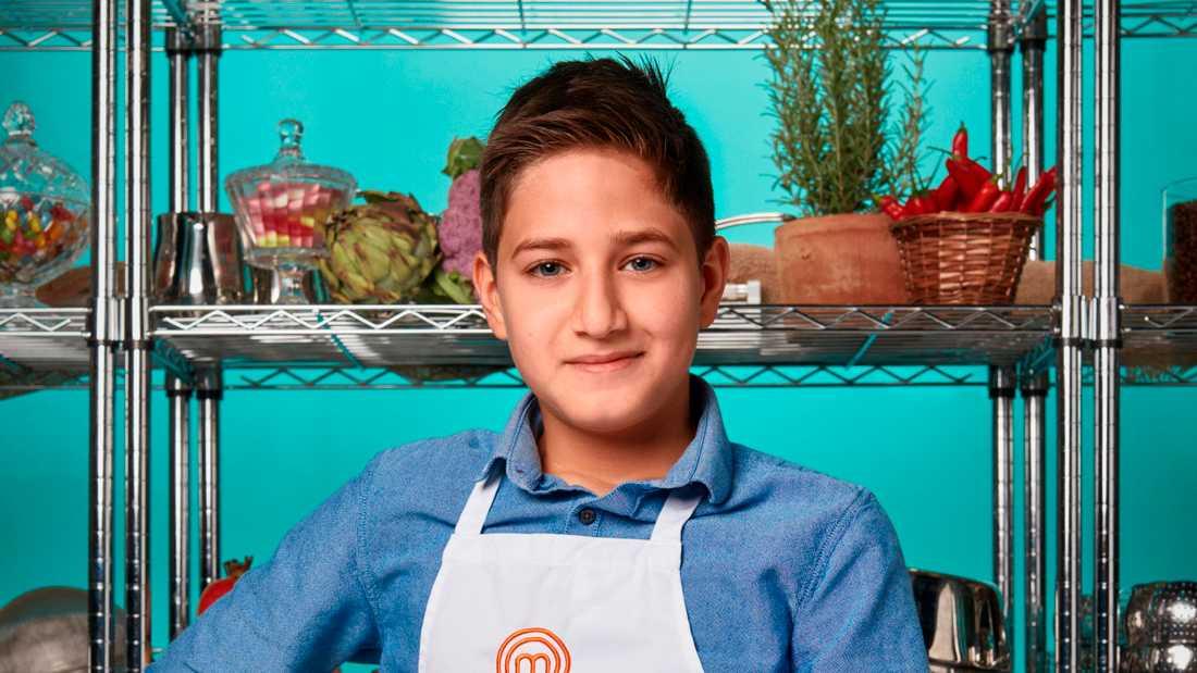 """Giovanni Barotta, 12, är vinnaren av """"Sveriges yngsta mästerkock"""". Pressbild."""