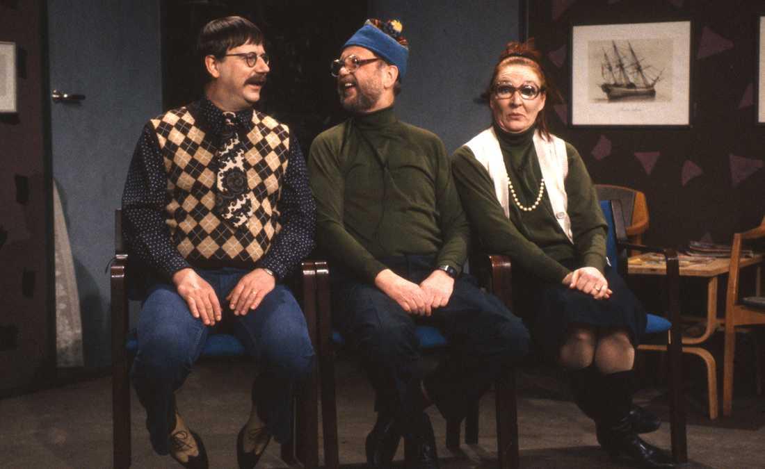 Tack För Kaffet. Underhållningsprogram med sketcher. Åke Cato, Sven Melander och Kim Anderzon 1991.