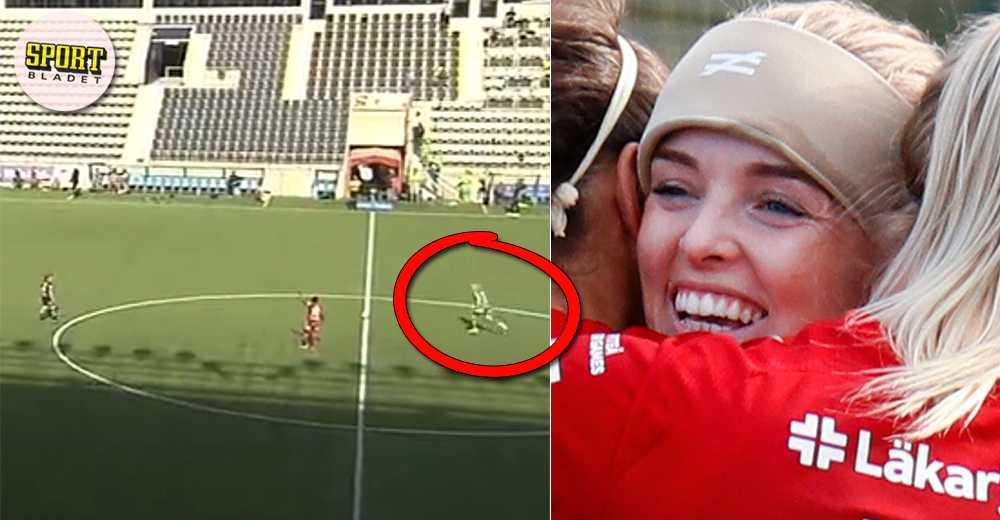 Piteå-målvakten Guro Pettersen gjorde mål från halva plan